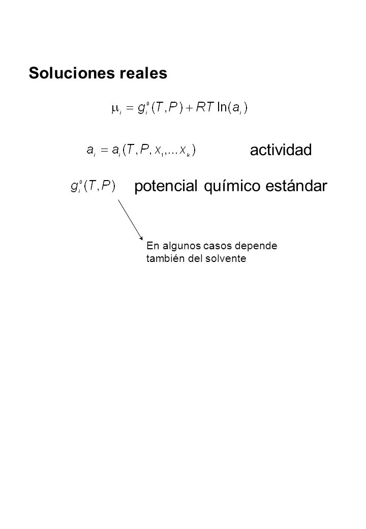 potencial químico estándar