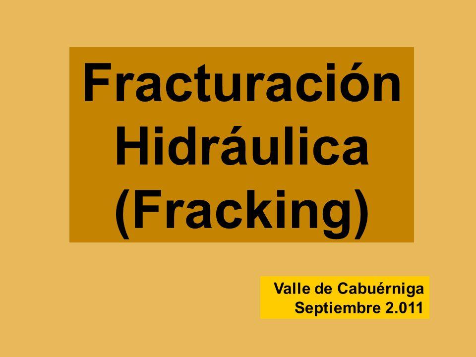 Fracturación Hidráulica (Fracking)