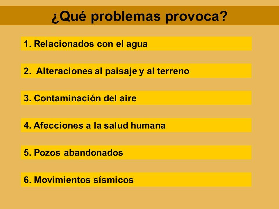 ¿Qué problemas provoca