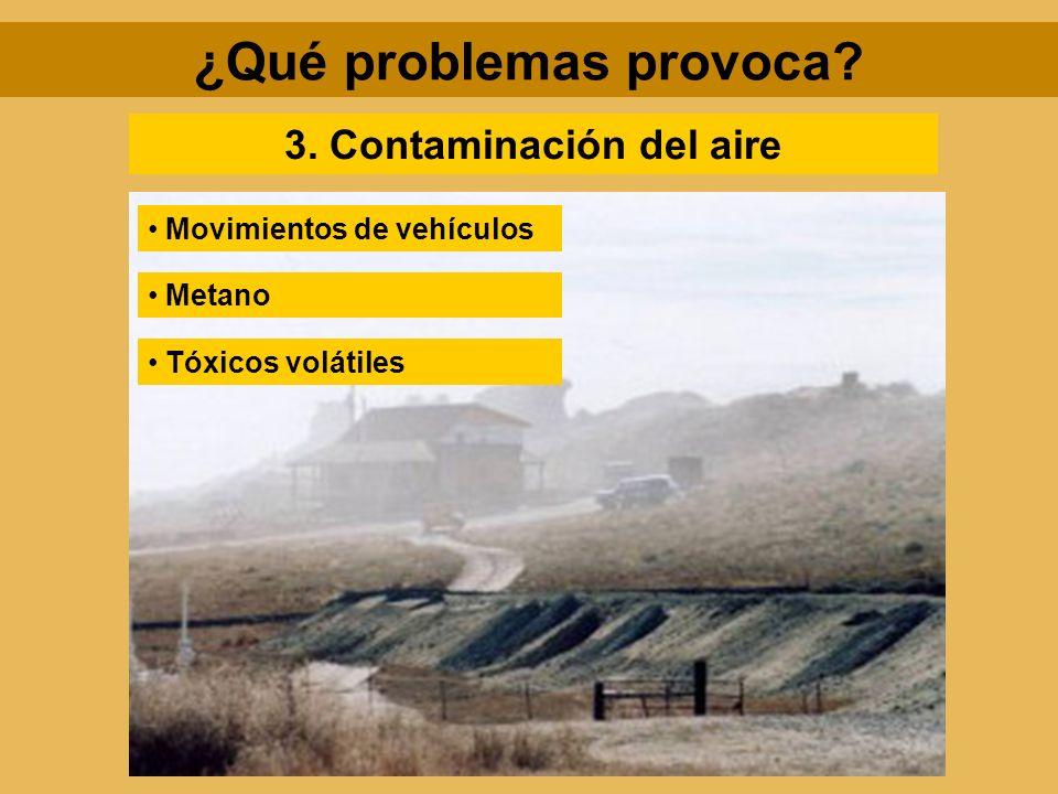 ¿Qué problemas provoca 3. Contaminación del aire