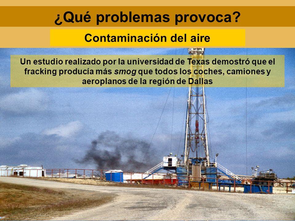 ¿Qué problemas provoca Contaminación del aire