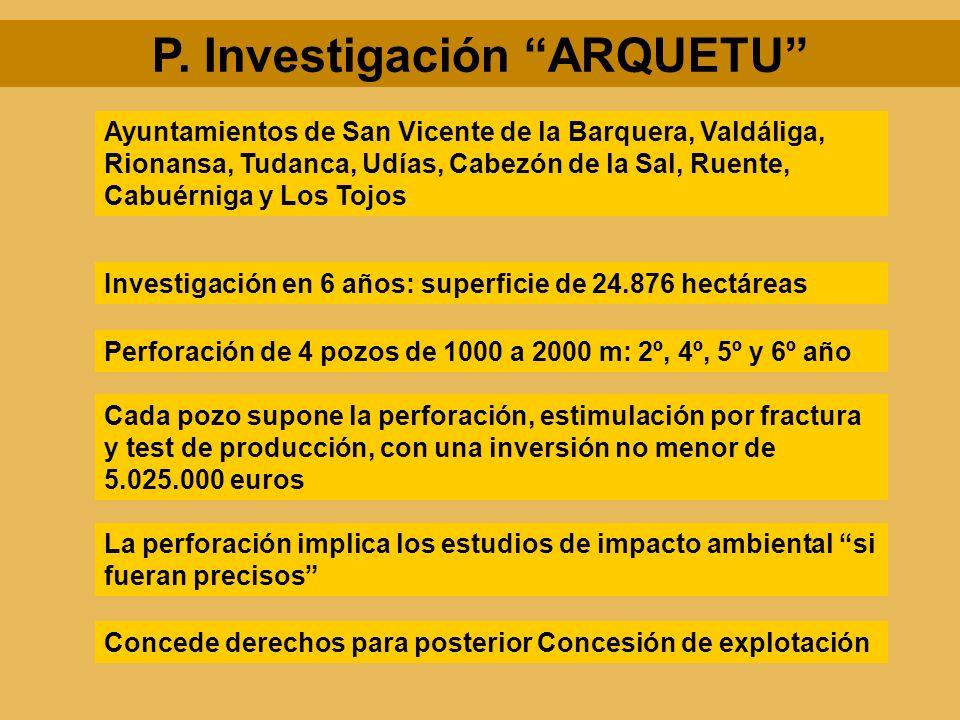 P. Investigación ARQUETU