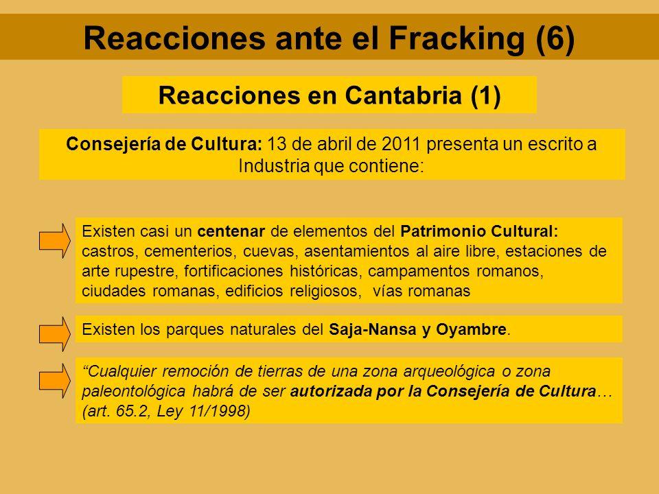 Reacciones ante el Fracking (6) Reacciones en Cantabria (1)