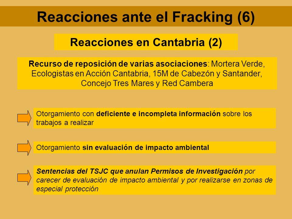 Reacciones ante el Fracking (6) Reacciones en Cantabria (2)