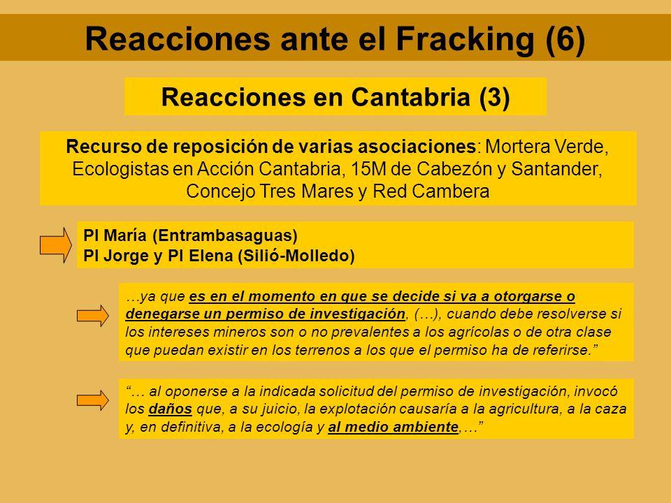 Reacciones ante el Fracking (6) Reacciones en Cantabria (3)