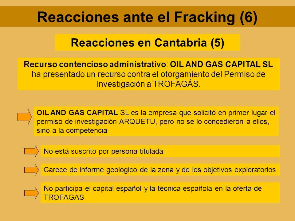 Reacciones ante el Fracking (6) Reacciones en Cantabria (5)