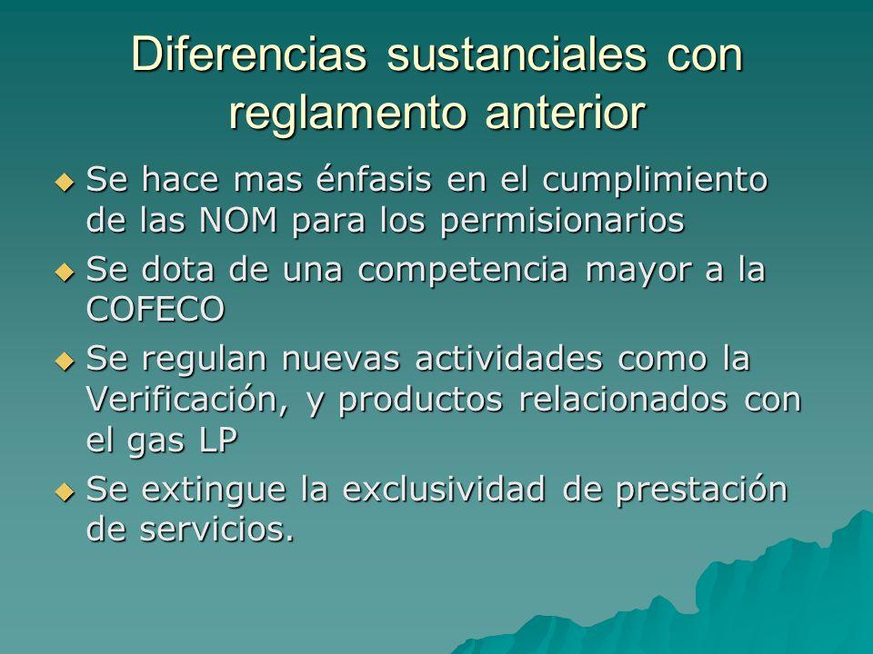 Diferencias sustanciales con reglamento anterior
