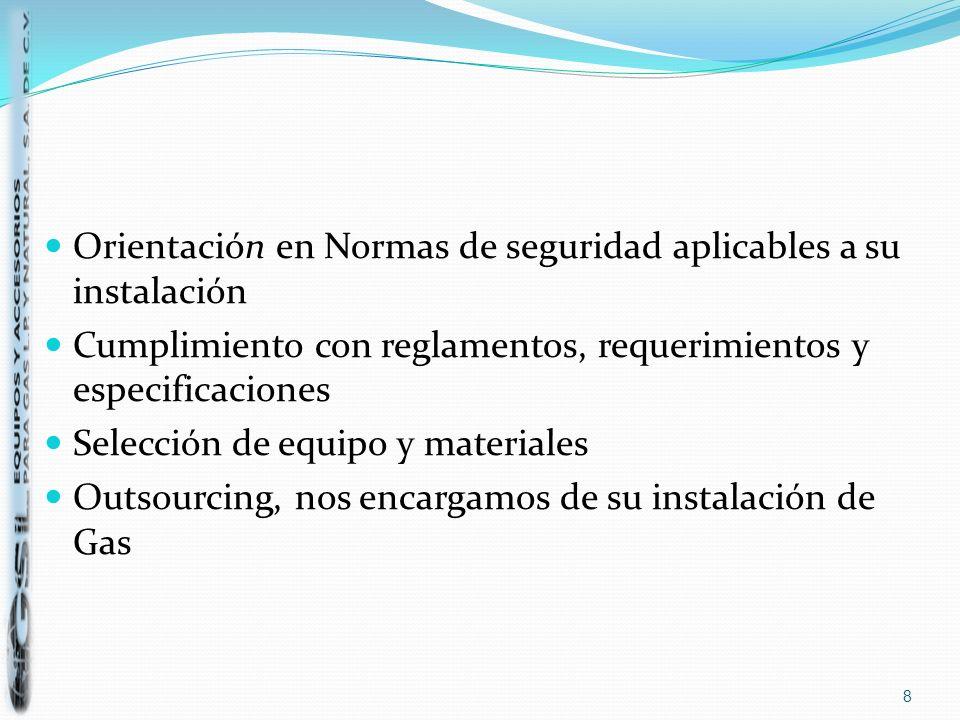 Orientación en Normas de seguridad aplicables a su instalación