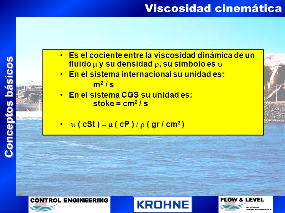 Viscosidad cinemática