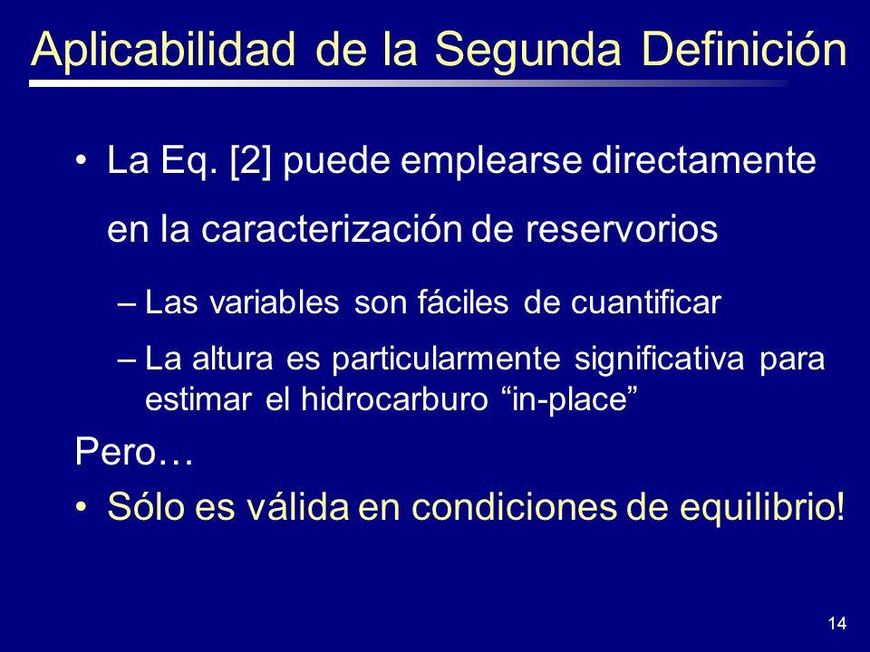 Aplicabilidad de la Segunda Definición