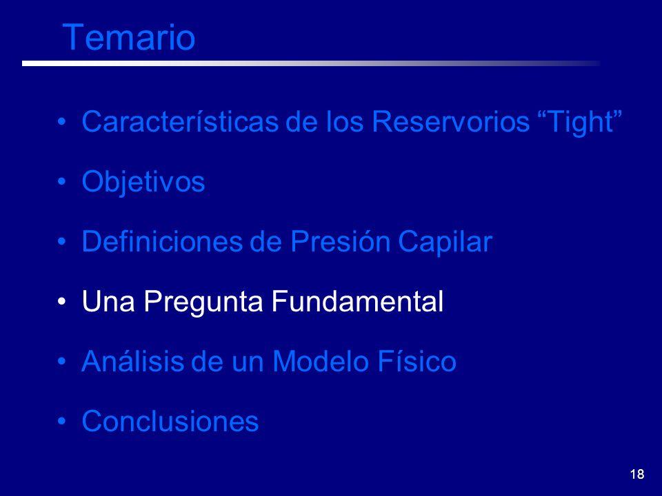 Temario Características de los Reservorios Tight Objetivos