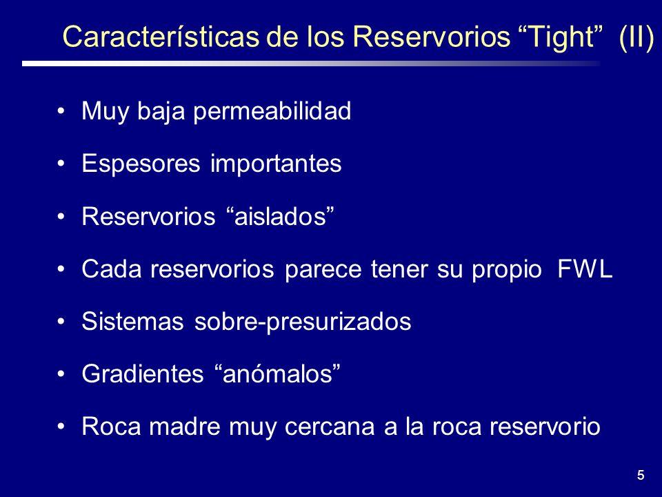 Características de los Reservorios Tight (II)