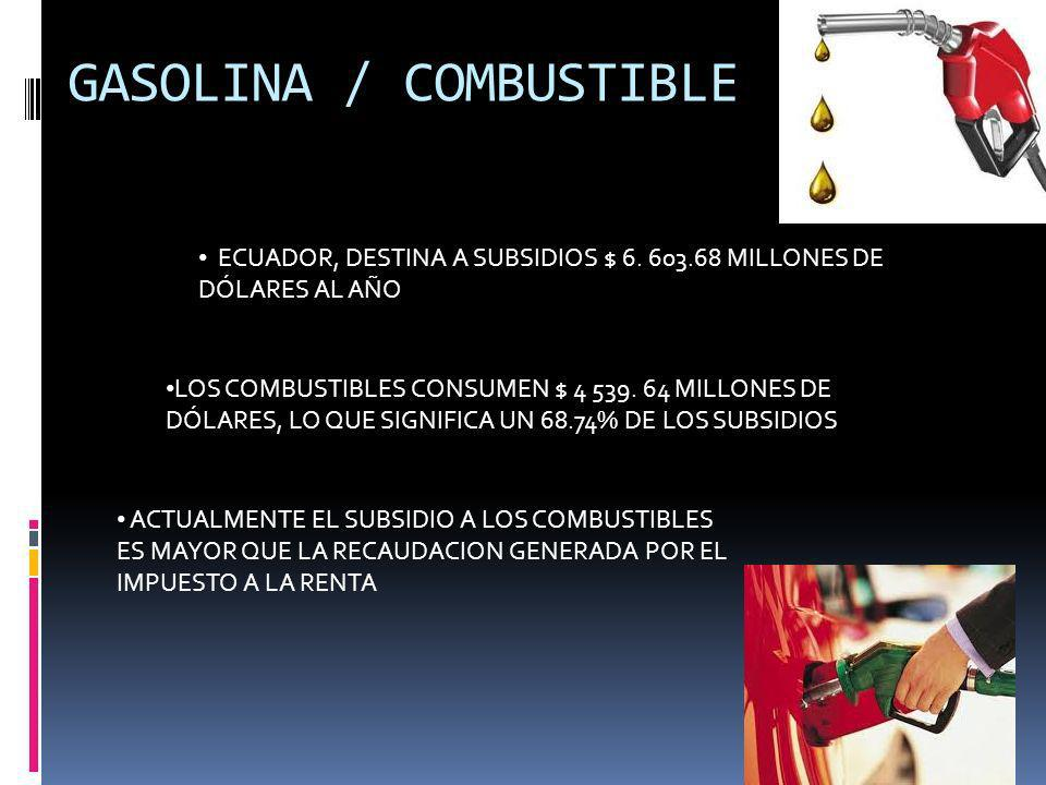 GASOLINA / COMBUSTIBLE