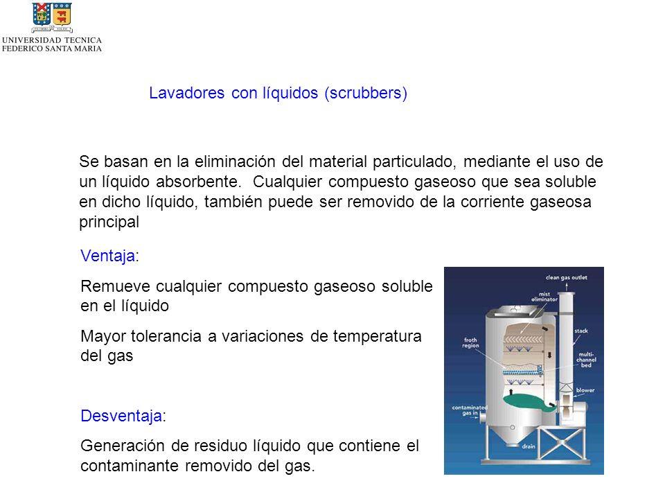 Lavadores con líquidos (scrubbers)