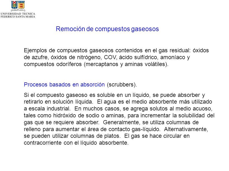 Remoción de compuestos gaseosos