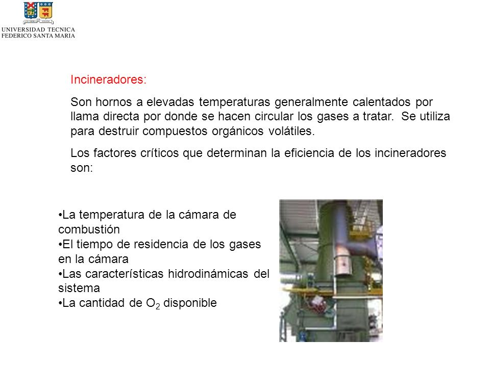 Incineradores: