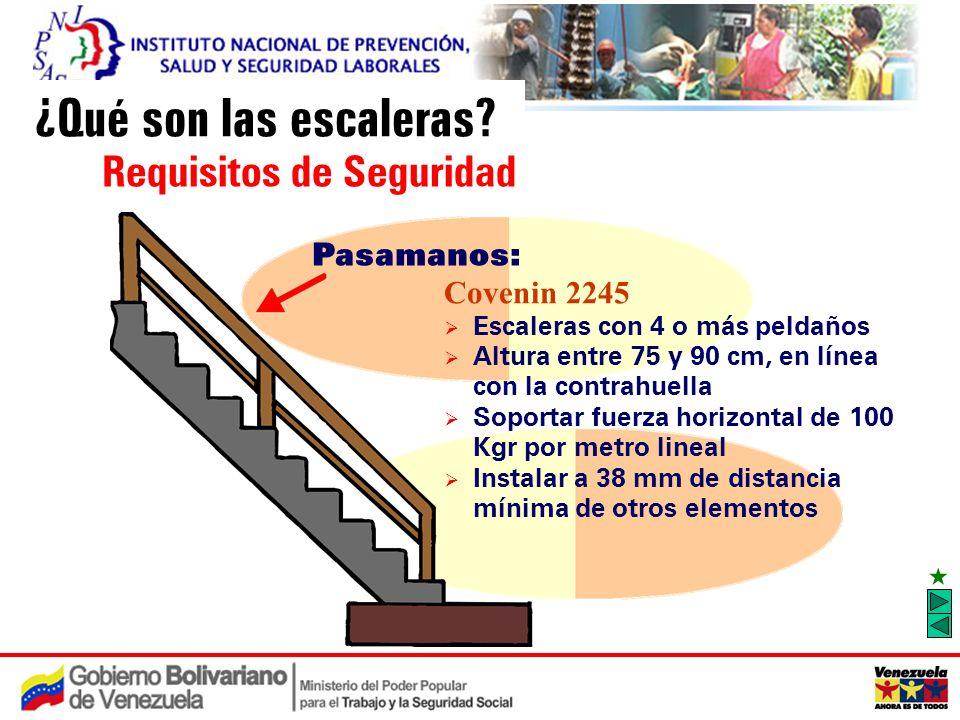 Medidas de prevenci n de caidas en el uso de escaleras for Altura pasamanos escalera