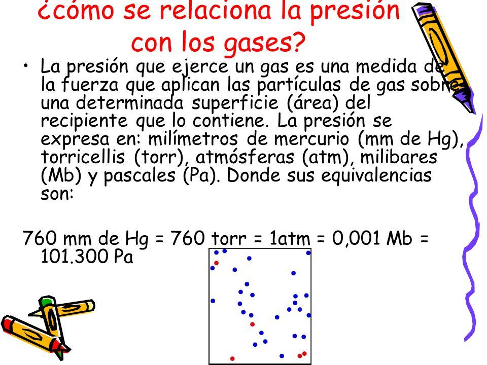 ¿cómo se relaciona la presión con los gases