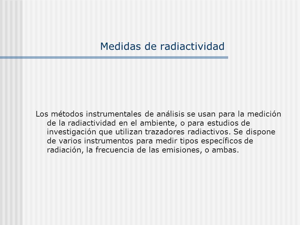 Medidas de radiactividad