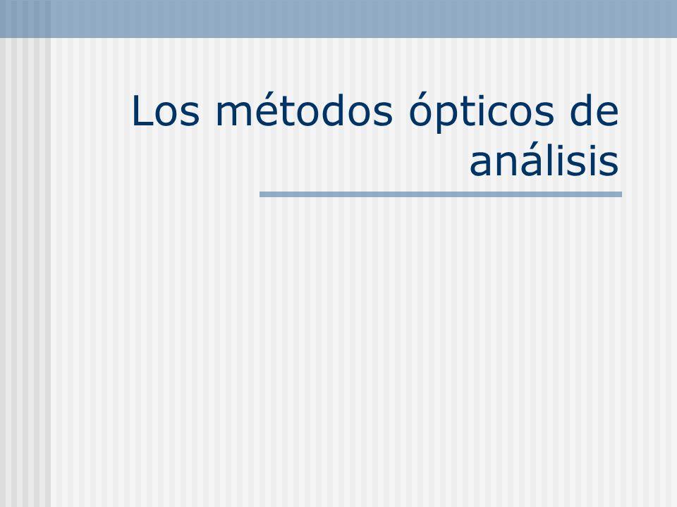 Los métodos ópticos de análisis