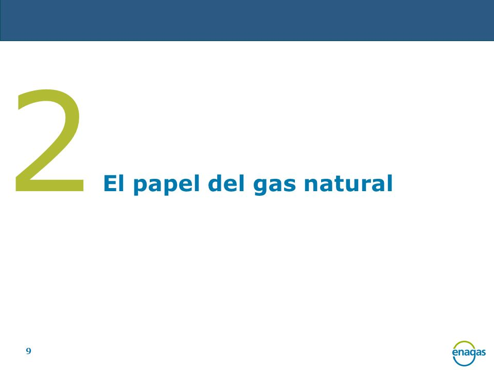 2 El papel del gas natural