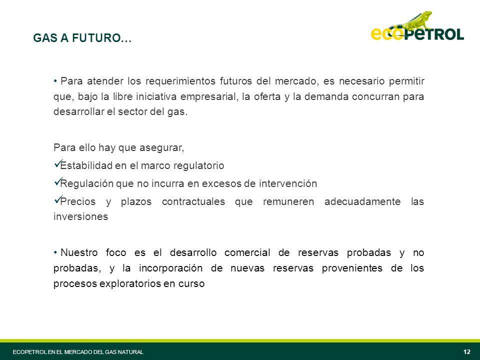 GAS A FUTURO…