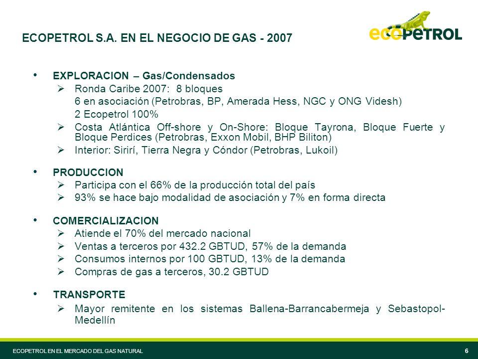 ECOPETROL S.A. EN EL NEGOCIO DE GAS - 2007