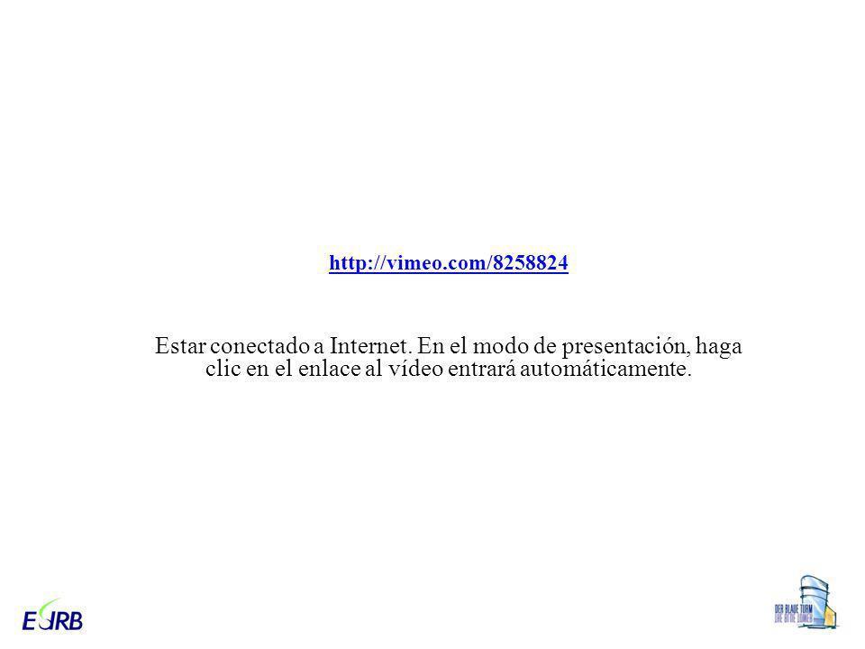 http://vimeo.com/8258824 Estar conectado a Internet.