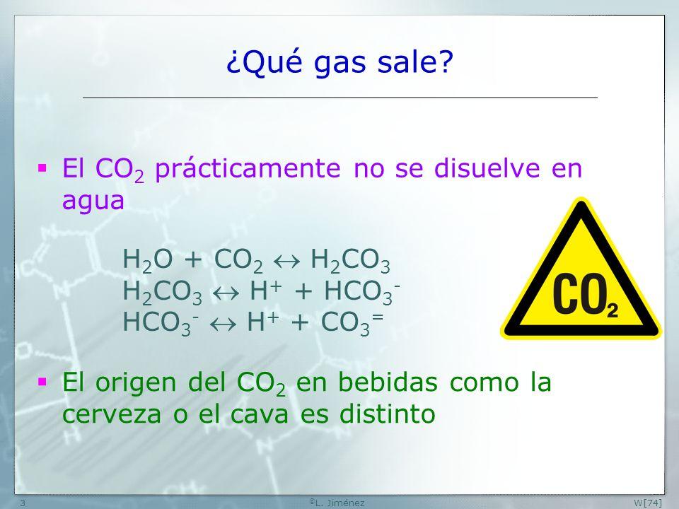 ¿Qué gas sale El CO2 prácticamente no se disuelve en agua