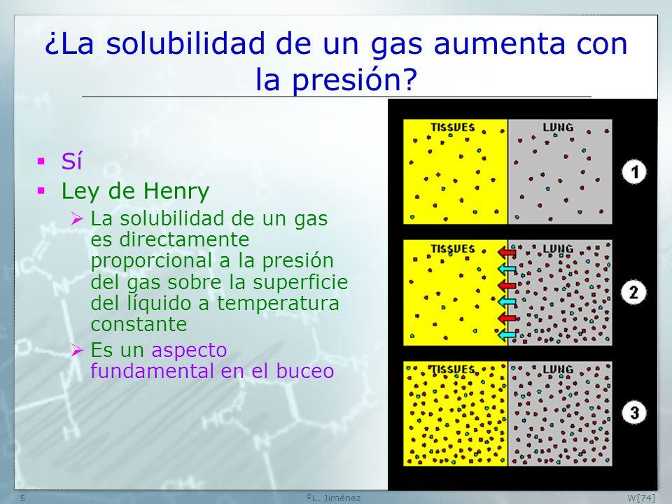 ¿La solubilidad de un gas aumenta con la presión