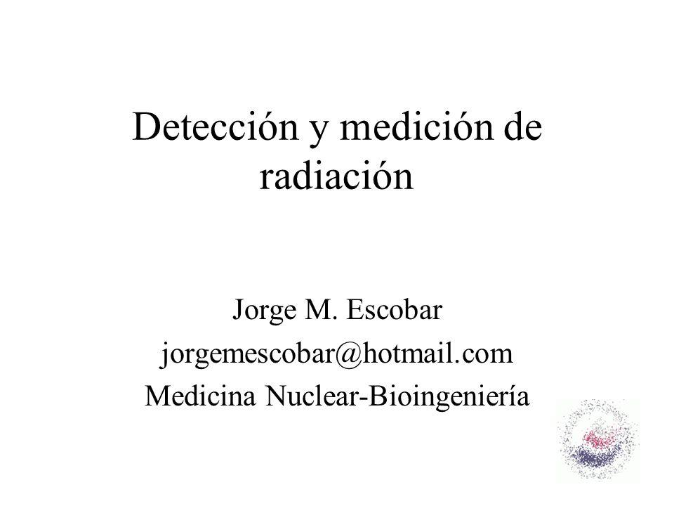 Detección y medición de radiación