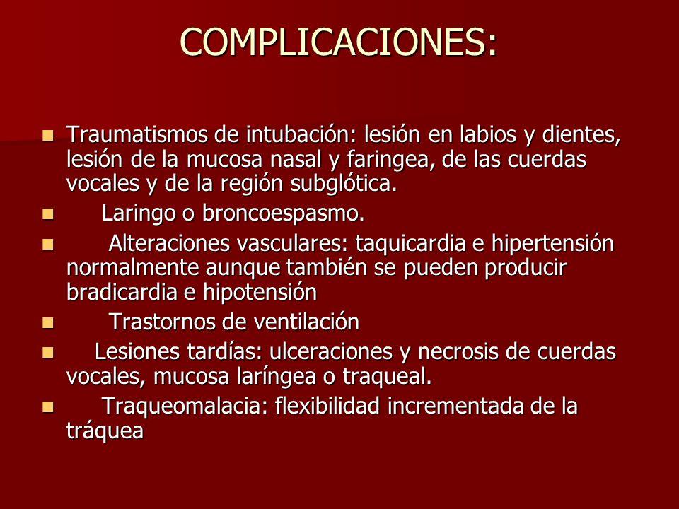 COMPLICACIONES: