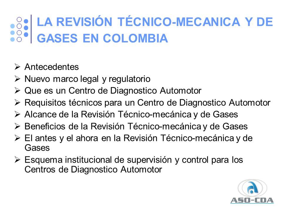 LA REVISIÓN TÉCNICO-MECANICA Y DE GASES EN COLOMBIA