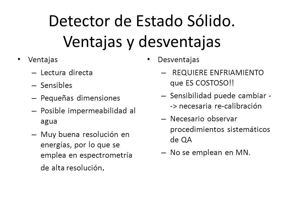 Detector de Estado Sólido. Ventajas y desventajas
