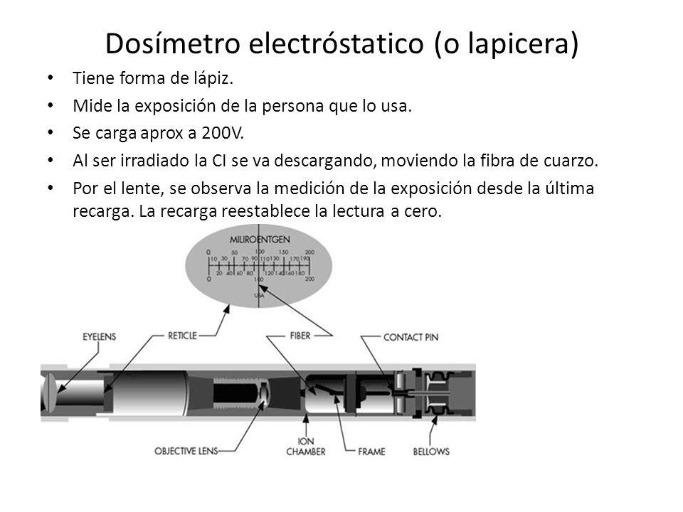 Dosímetro electróstatico (o lapicera)