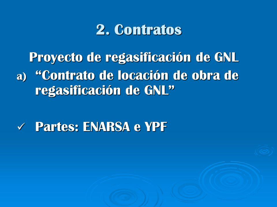 2. Contratos Proyecto de regasificación de GNL