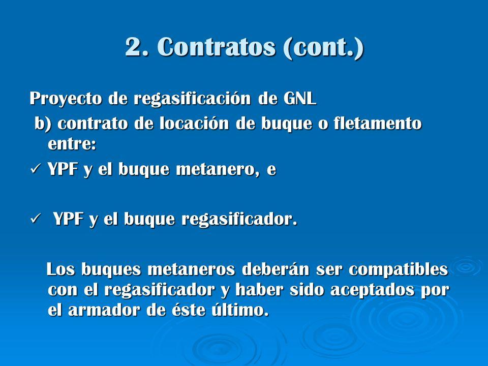 2. Contratos (cont.) Proyecto de regasificación de GNL