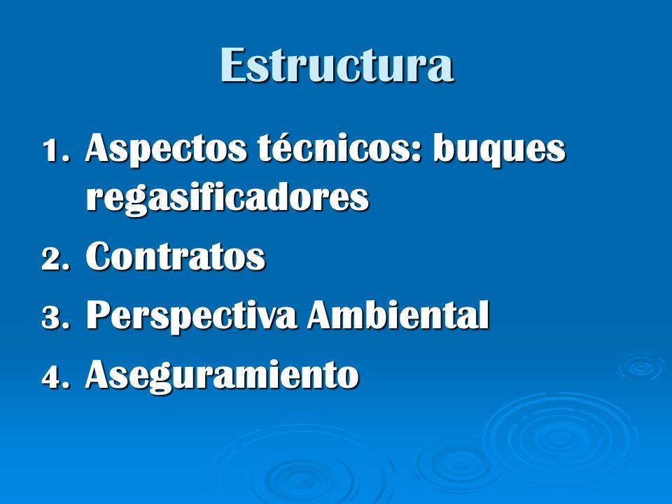 Estructura Aspectos técnicos: buques regasificadores Contratos