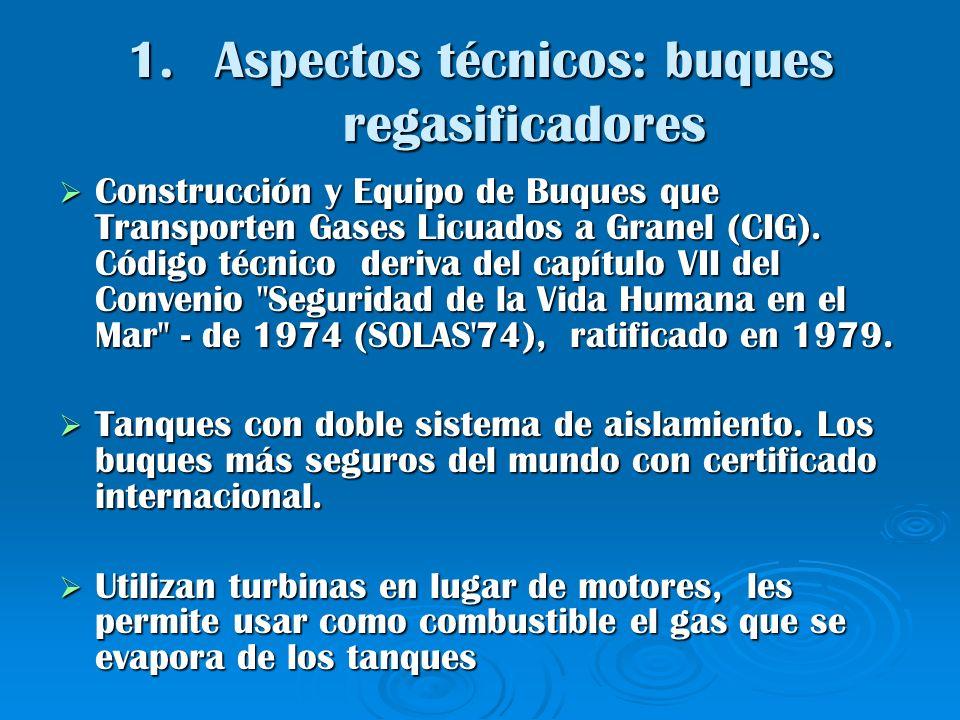 Aspectos técnicos: buques regasificadores