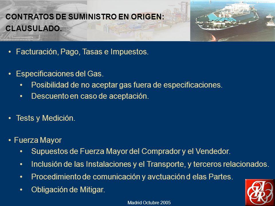 CONTRATOS DE SUMINISTRO EN ORIGEN: