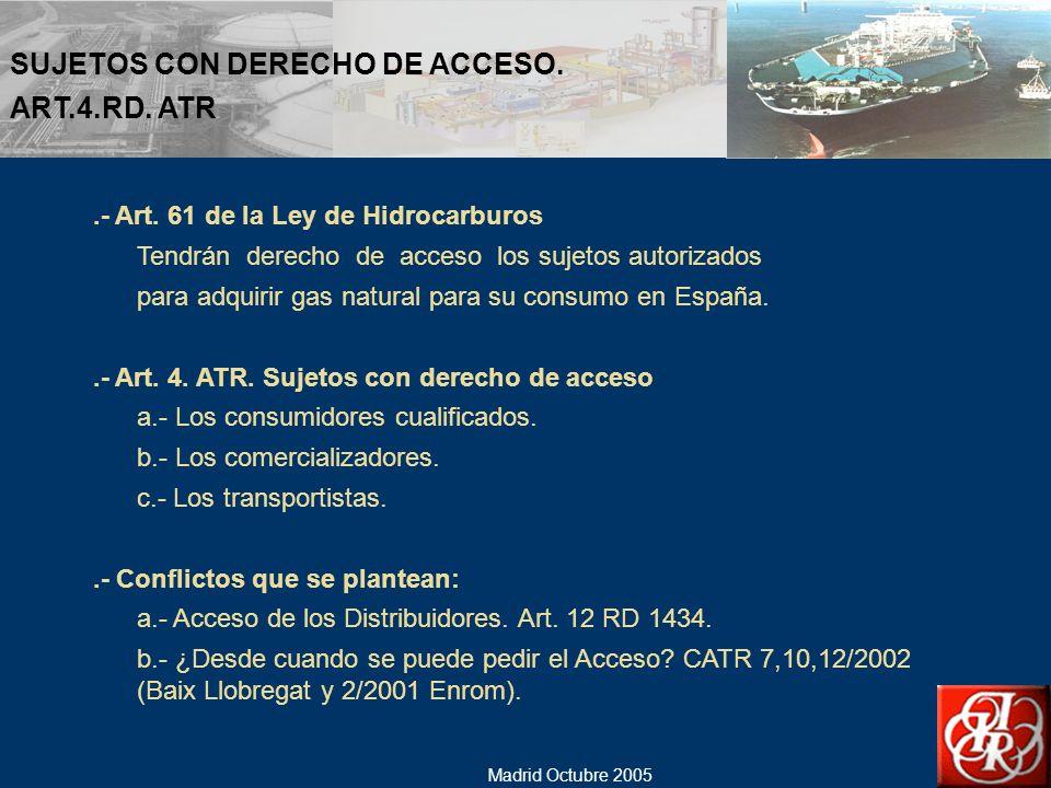 SUJETOS CON DERECHO DE ACCESO. ART.4.RD. ATR