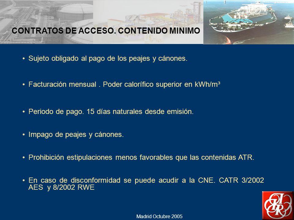 CONTRATOS DE ACCESO. CONTENIDO MINIMO