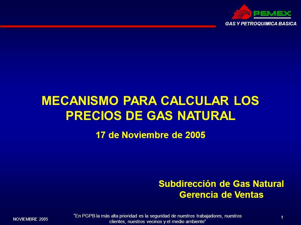 MECANISMO PARA CALCULAR LOS Subdirección de Gas Natural