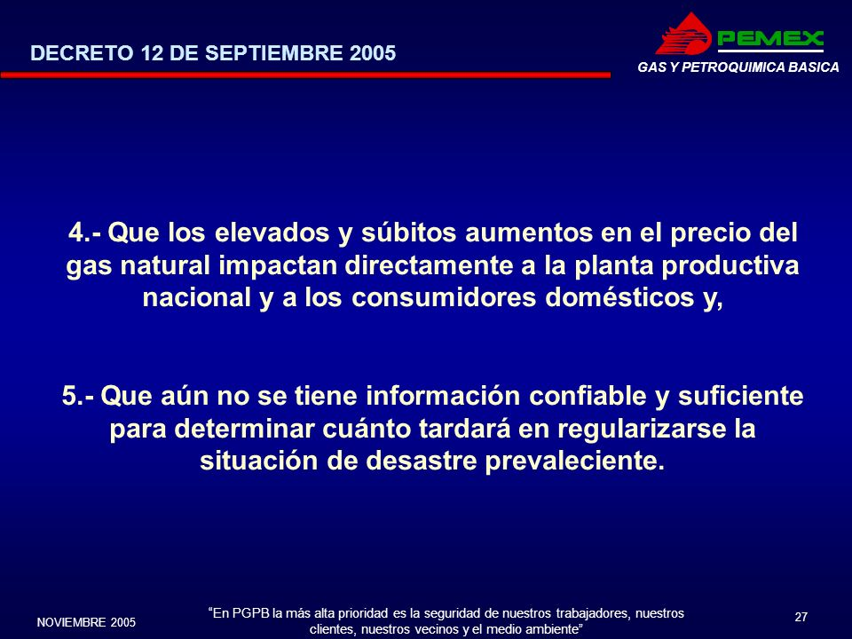 DECRETO 12 DE SEPTIEMBRE 2005