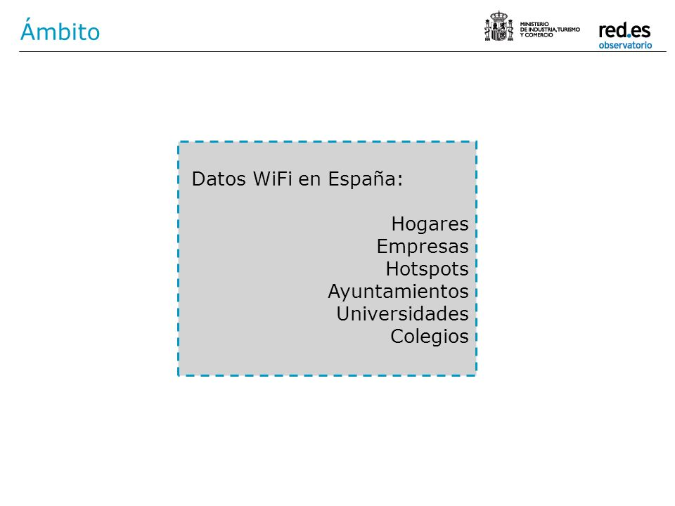 Ámbito Datos WiFi en España: Hogares Empresas Hotspots Ayuntamientos