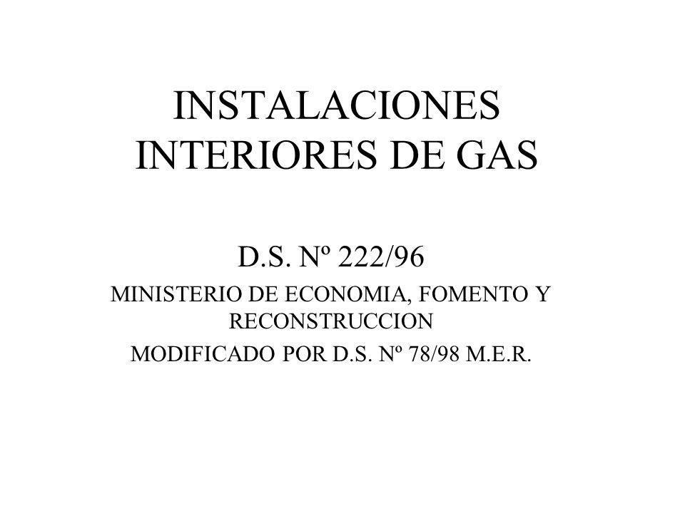 INSTALACIONES INTERIORES DE GAS