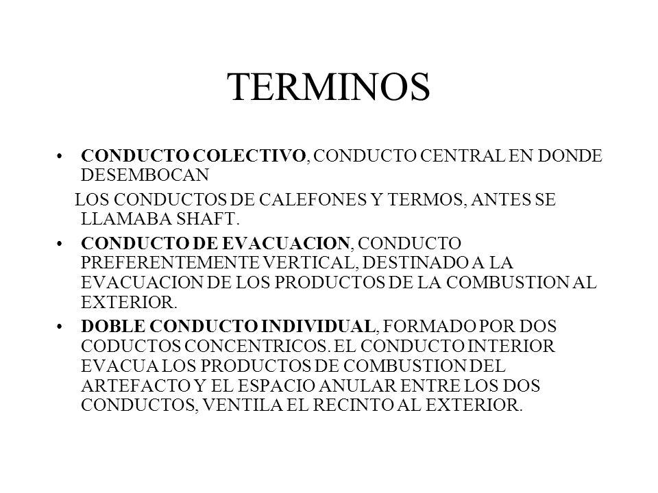 TERMINOS CONDUCTO COLECTIVO, CONDUCTO CENTRAL EN DONDE DESEMBOCAN
