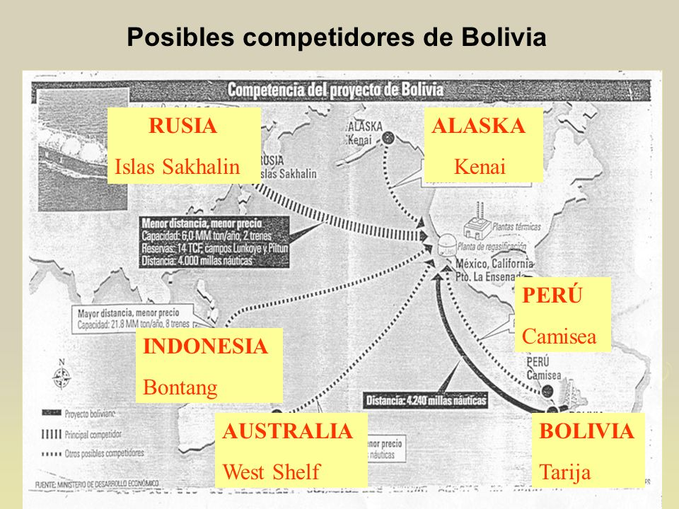 Posibles competidores de Bolivia