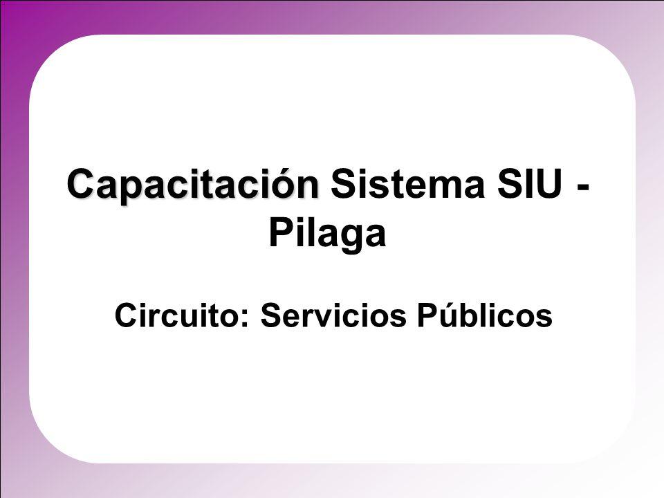 Capacitación Sistema SIU - Pilaga