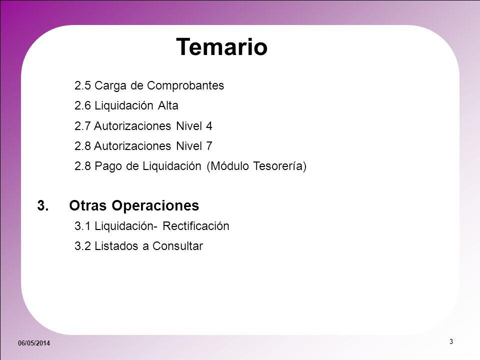 Temario Otras Operaciones 2.5 Carga de Comprobantes